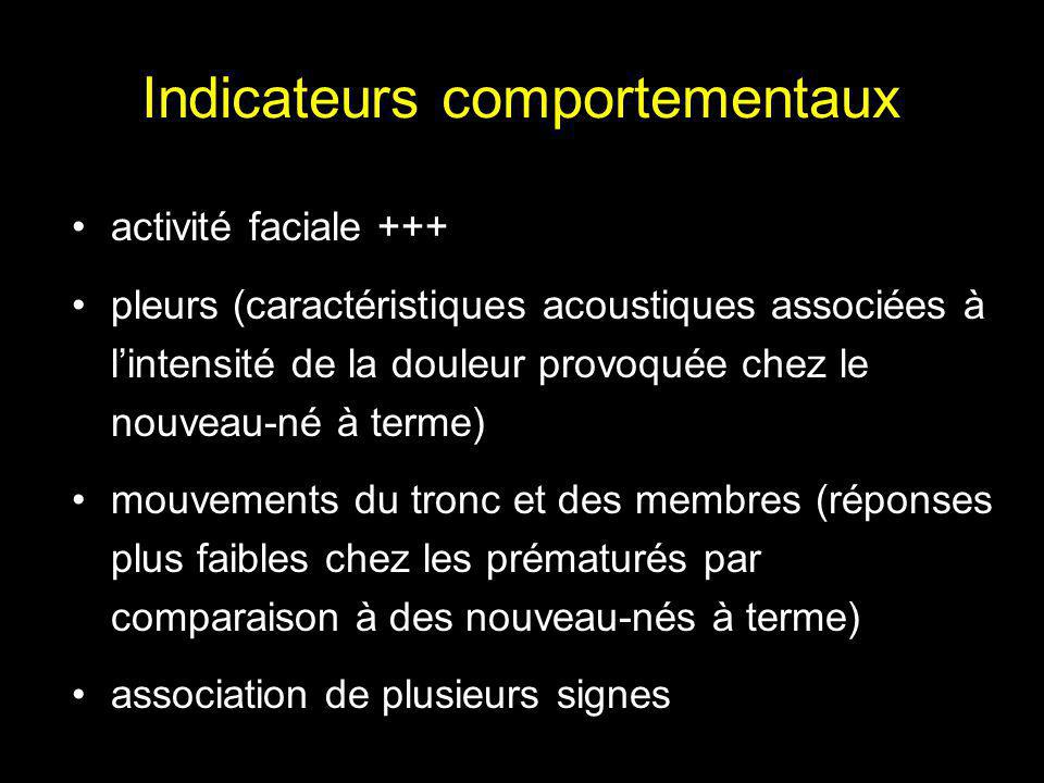 Indicateurs comportementaux