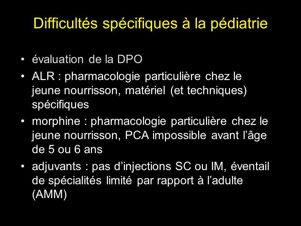 Difficultés spécifiques à la pédiatrie