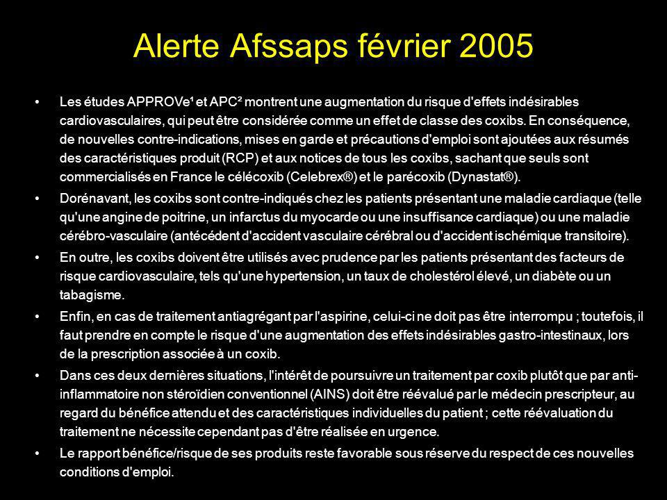 Alerte Afssaps février 2005