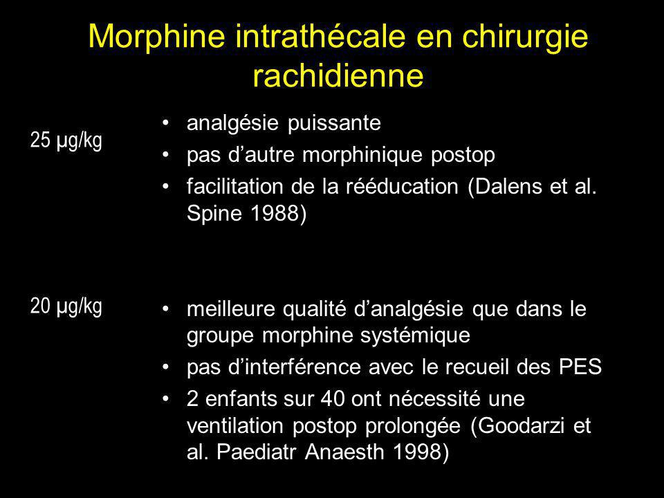 Morphine intrathécale en chirurgie rachidienne