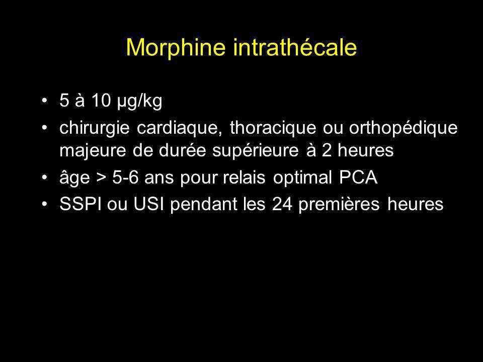 Morphine intrathécale