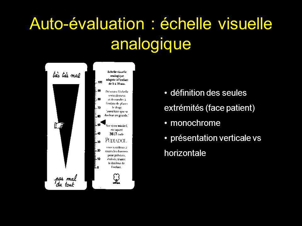 Auto-évaluation : échelle visuelle analogique