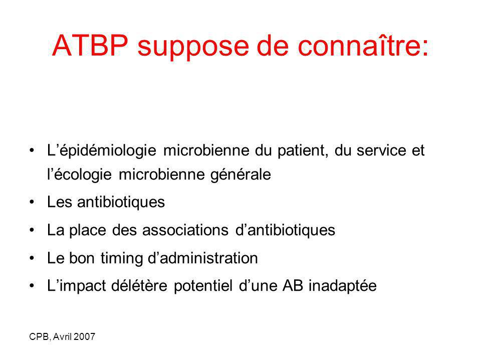 ATBP suppose de connaître: