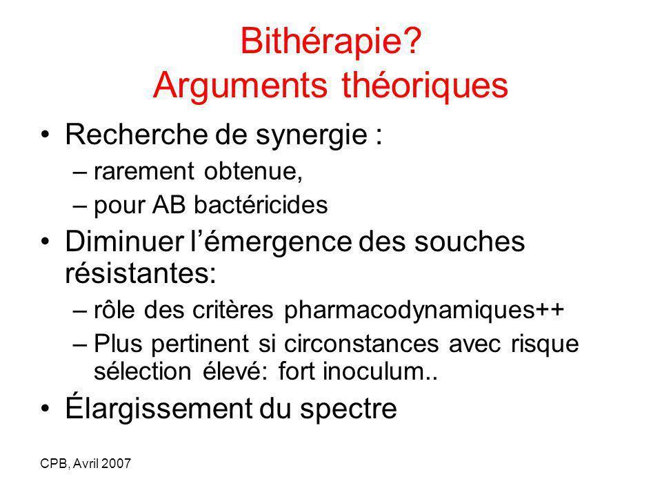 Bithérapie Arguments théoriques
