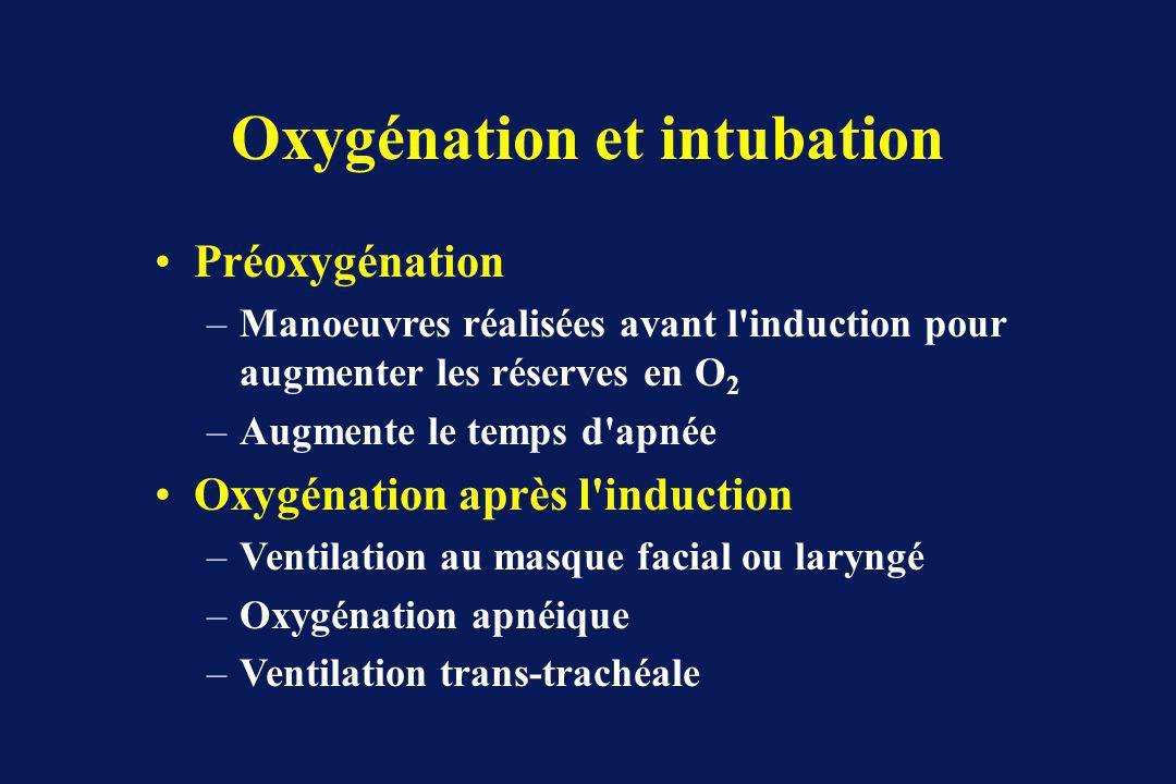 Oxygénation et intubation