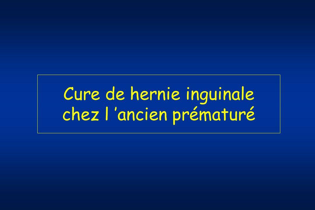 Cure de hernie inguinale chez l 'ancien prématuré