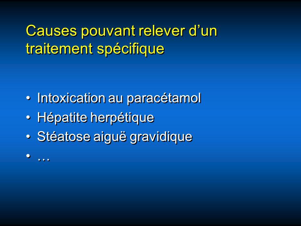 Causes pouvant relever d'un traitement spécifique