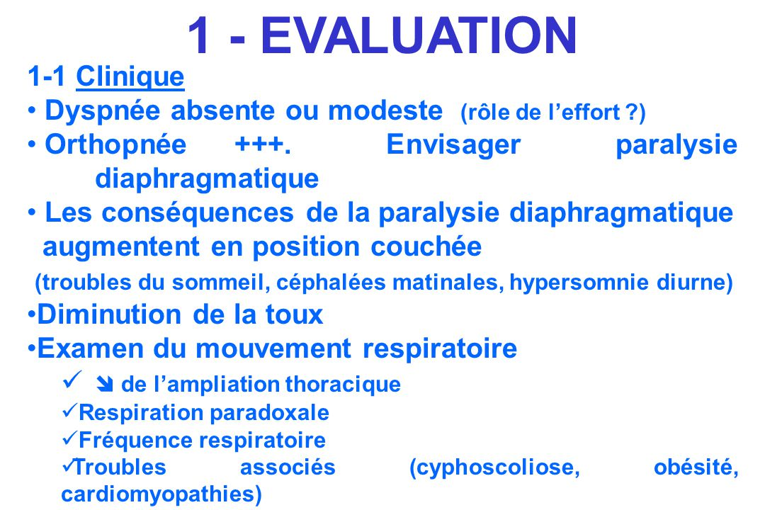 1 - EVALUATION 1-1 Clinique