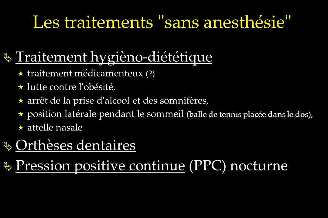 Les traitements sans anesthésie