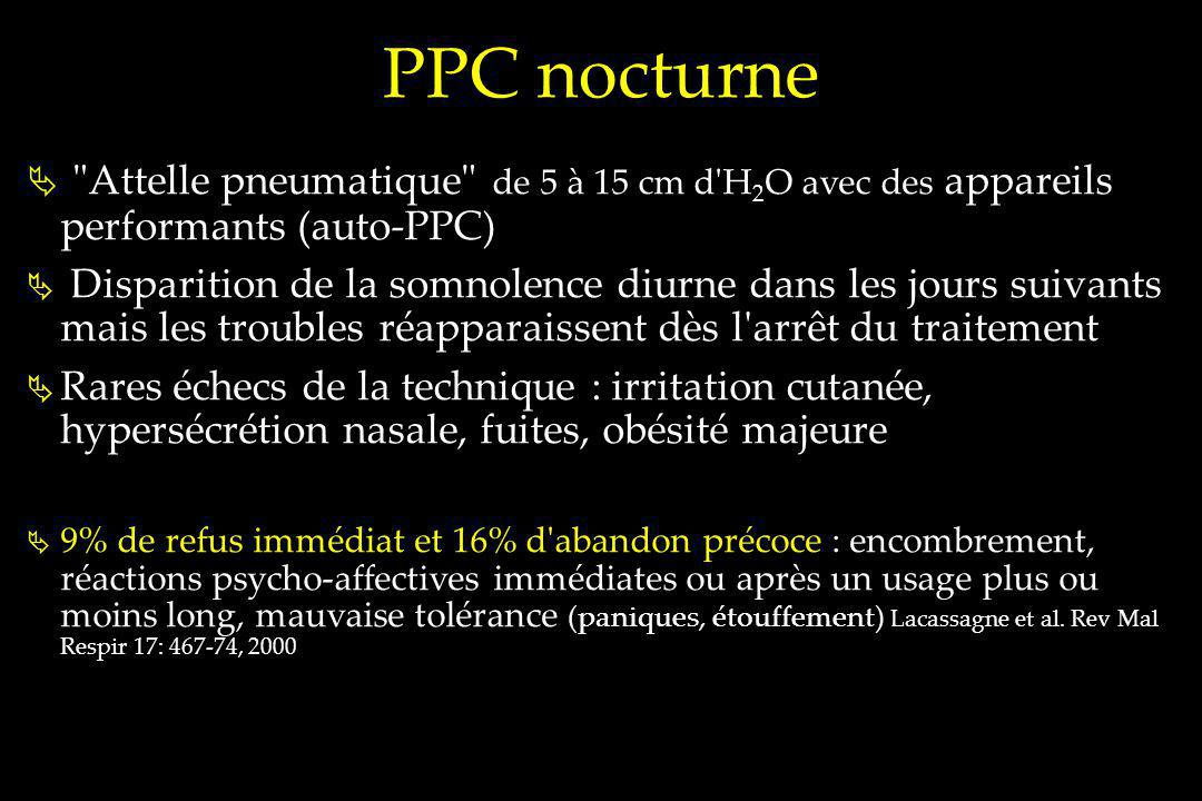 PPC nocturne Attelle pneumatique de 5 à 15 cm d H2O avec des appareils performants (auto-PPC)