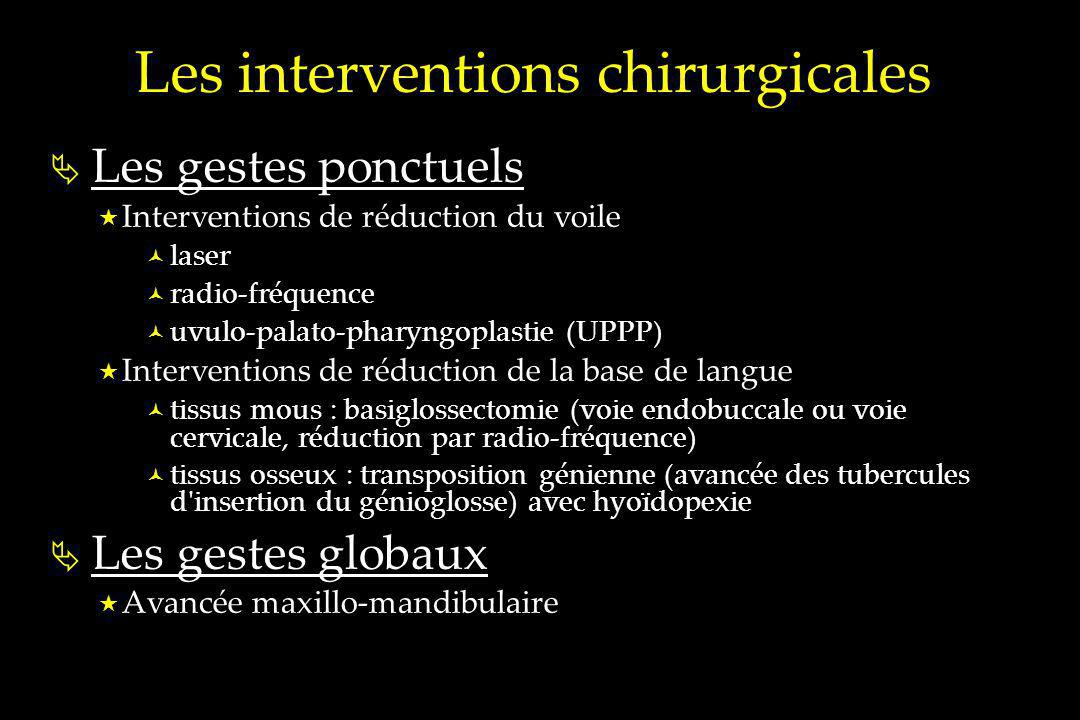 Les interventions chirurgicales
