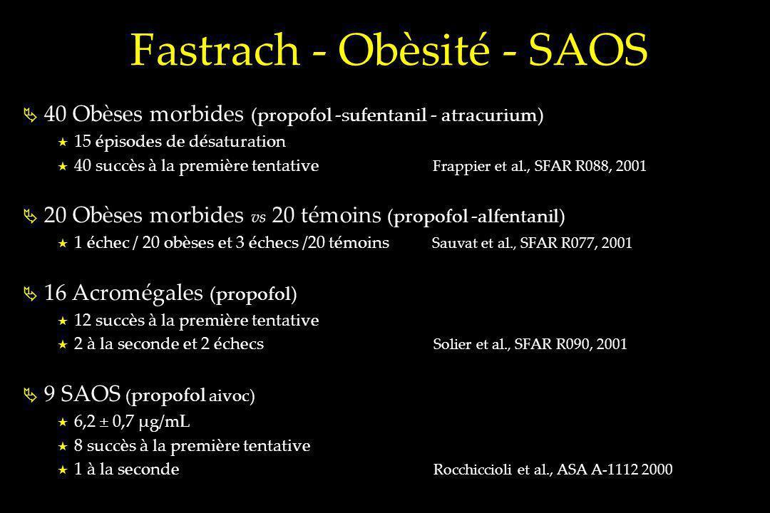 Fastrach - Obèsité - SAOS