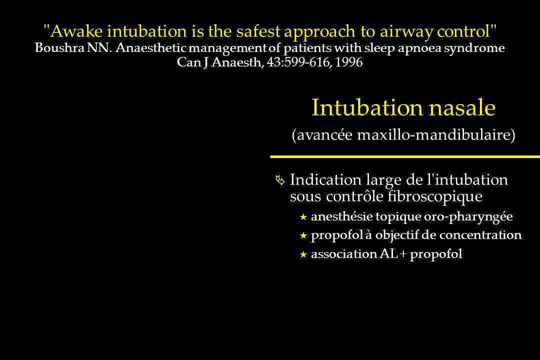 Awake intubation is the safest approach to airway control