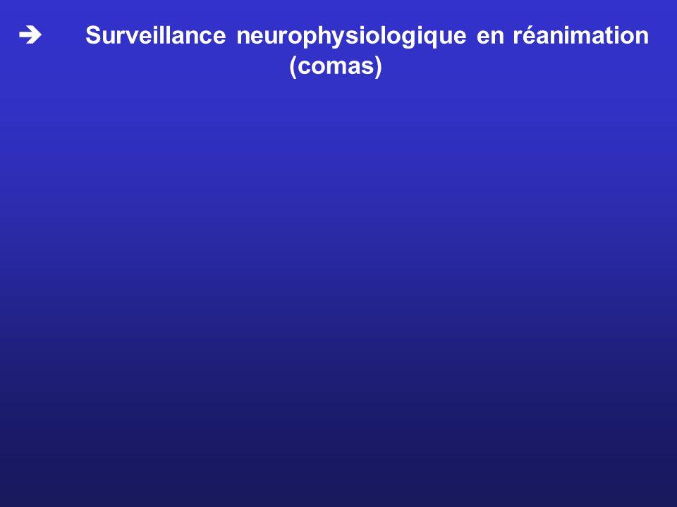  Surveillance neurophysiologique en réanimation