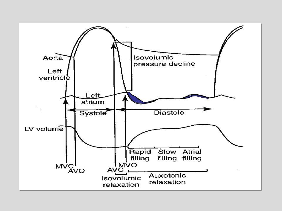 La phase de relaxation isovolumique allant de la fermeture des valves aortiques à l'ouverture des valves mitrales. Elle est purement active, dure 60 à 90ms et sa durée est un bon reflet de la qualité du métabolisme cellulaire et par extension del'inotropisme