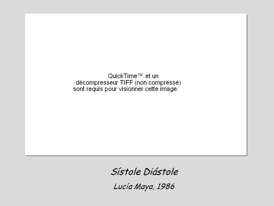 Sístole Diástole Lucía Maya, 1986