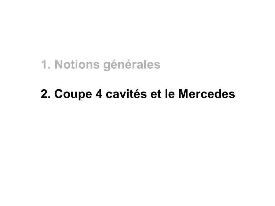 Notions générales 2. Coupe 4 cavités et le Mercedes