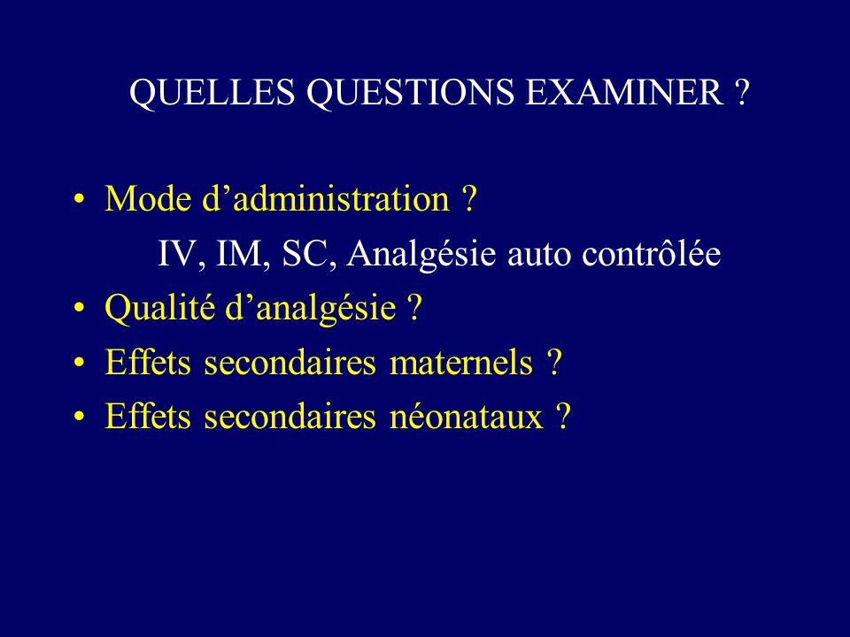 QUELLES QUESTIONS EXAMINER