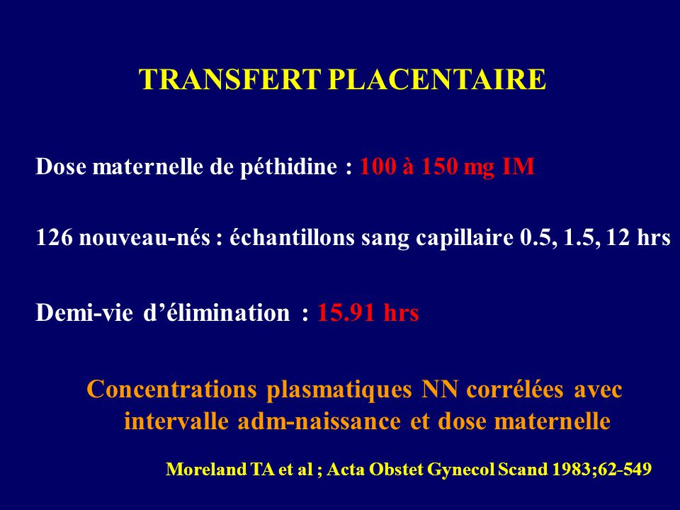 TRANSFERT PLACENTAIRE