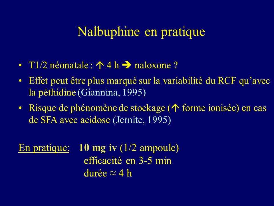 Nalbuphine en pratique