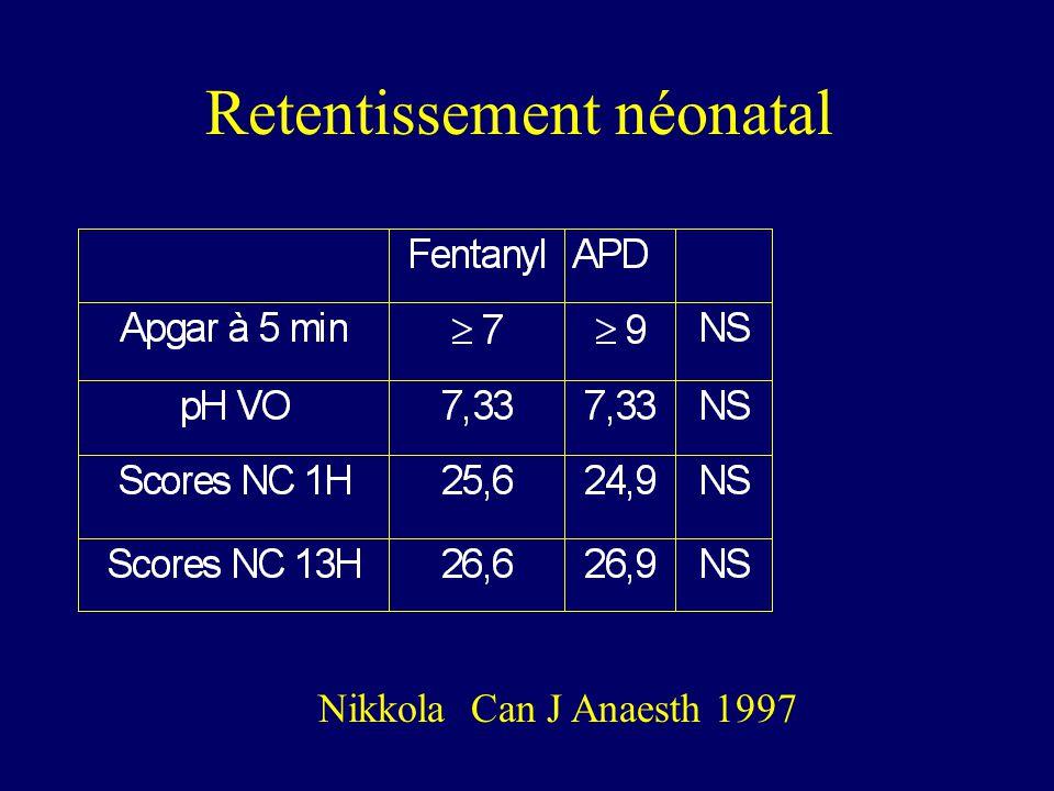 Retentissement néonatal