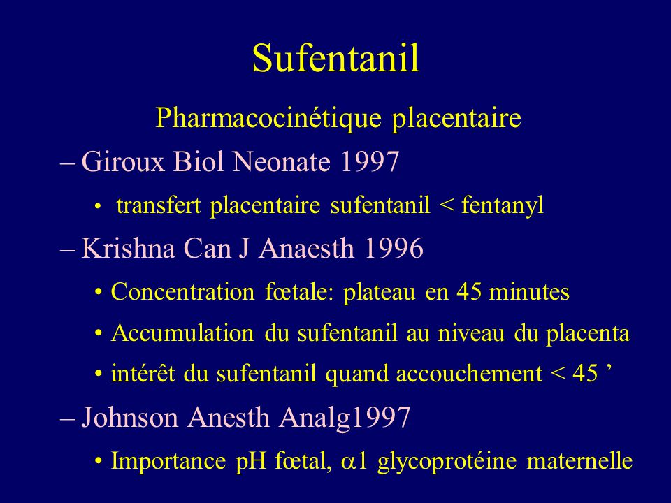 Pharmacocinétique placentaire