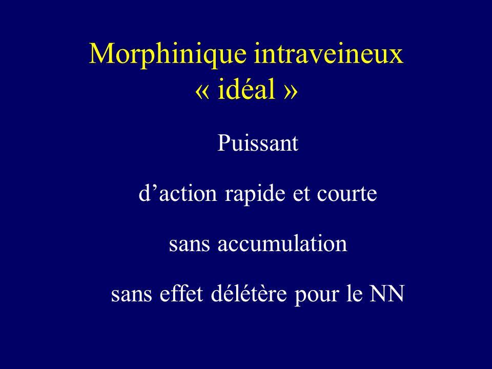 Morphinique intraveineux « idéal »