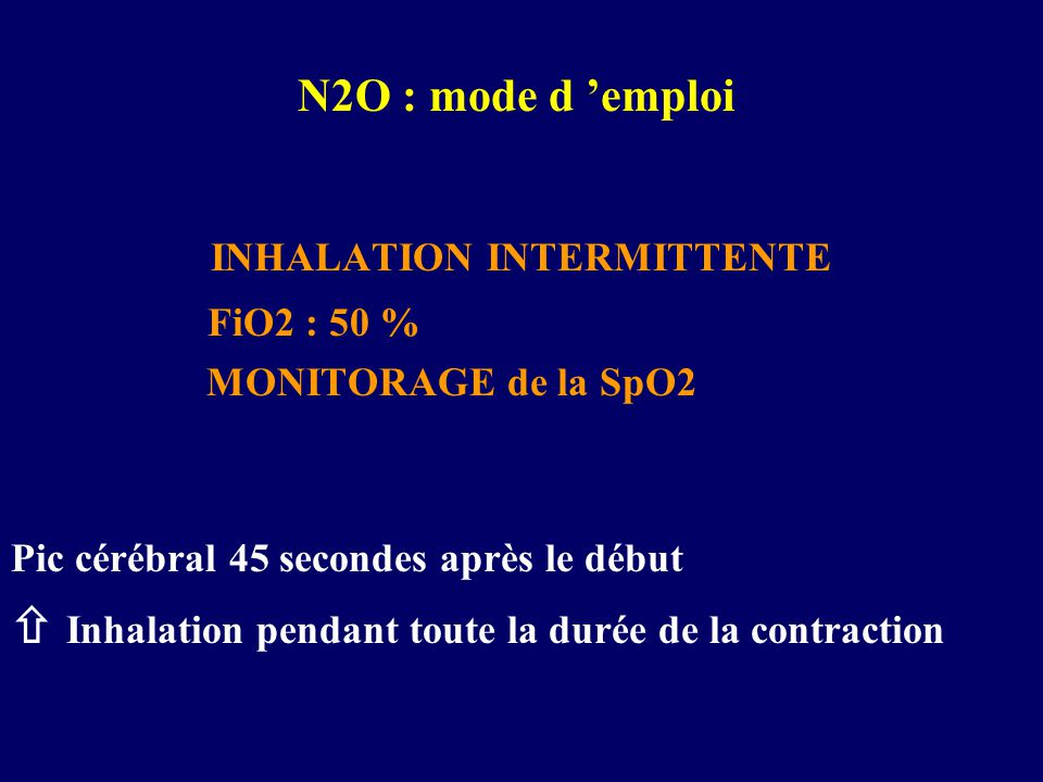INHALATION INTERMITTENTE