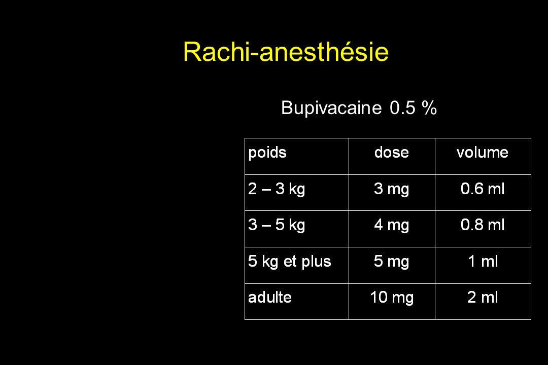 Rachi-anesthésie Bupivacaine 0.5 %