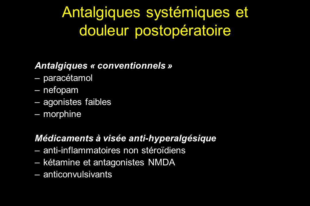 Antalgiques systémiques et douleur postopératoire