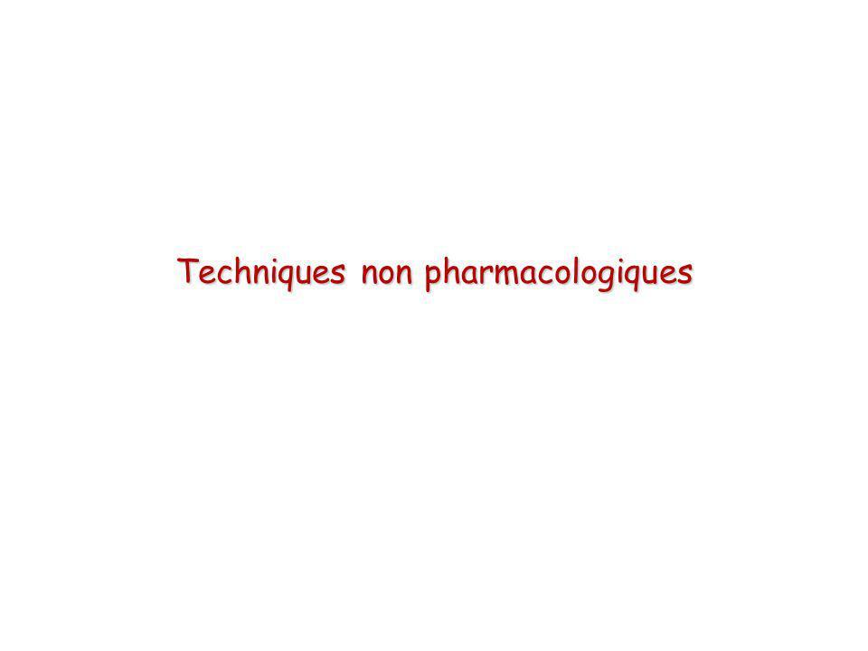 Techniques non pharmacologiques