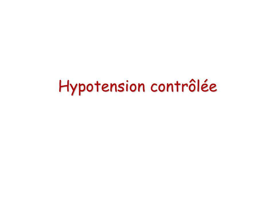 Hypotension contrôlée