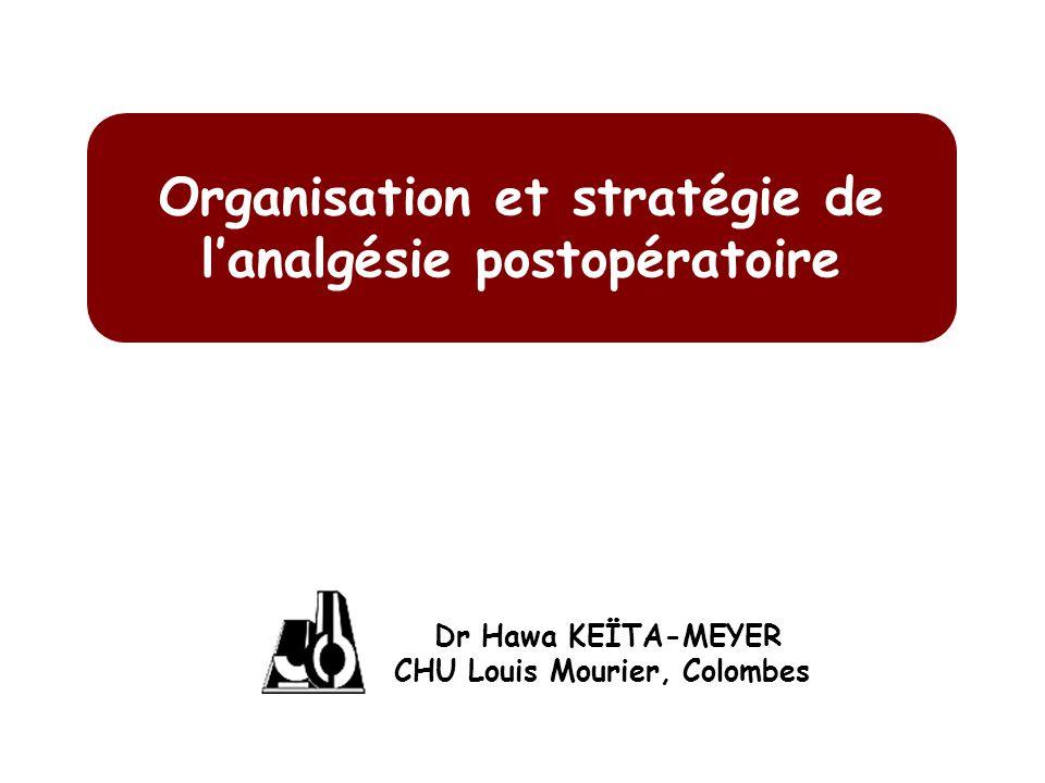 Organisation et stratégie de l'analgésie postopératoire
