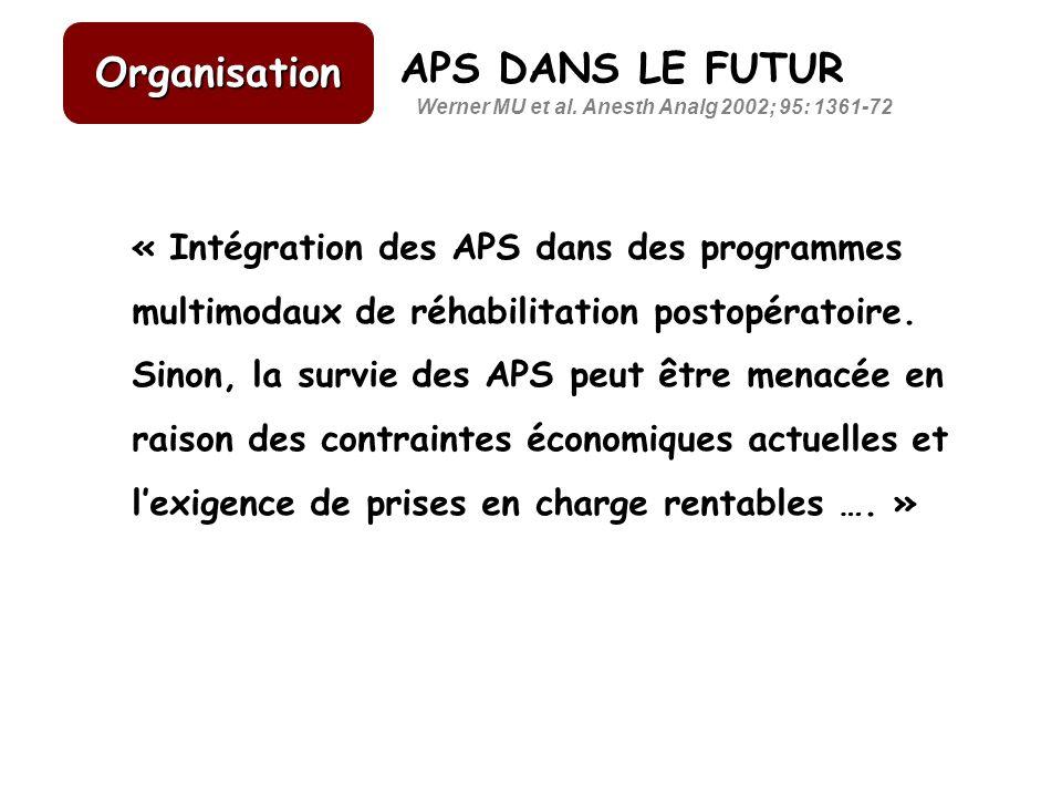 Organisation APS DANS LE FUTUR