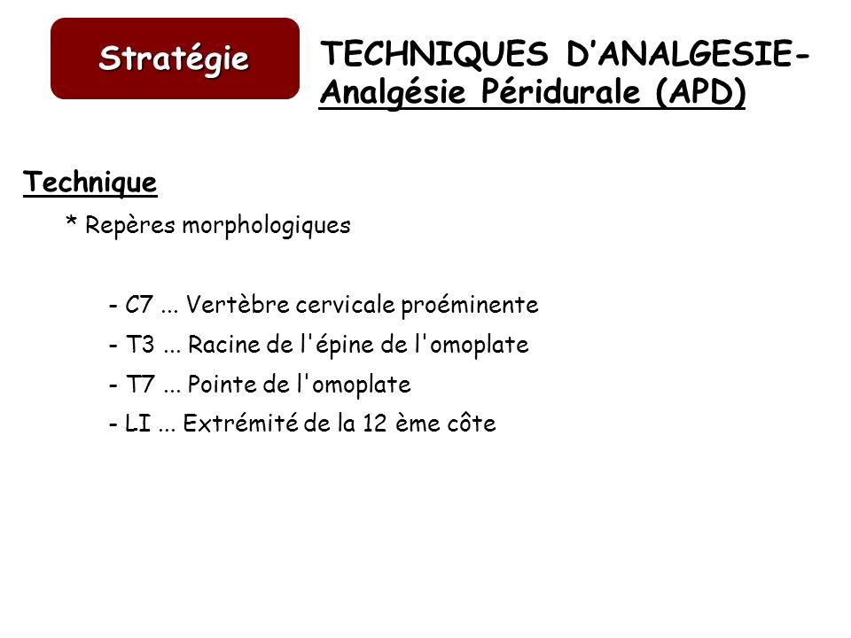 Analgésie Péridurale (APD)