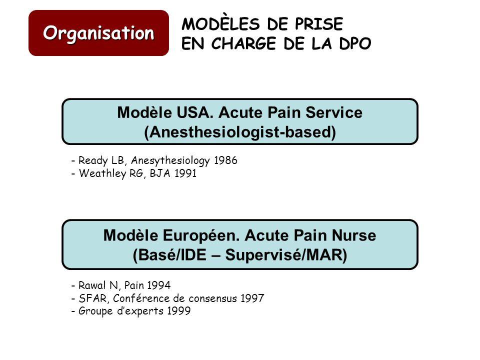 Organisation MODÈLES DE PRISE EN CHARGE DE LA DPO