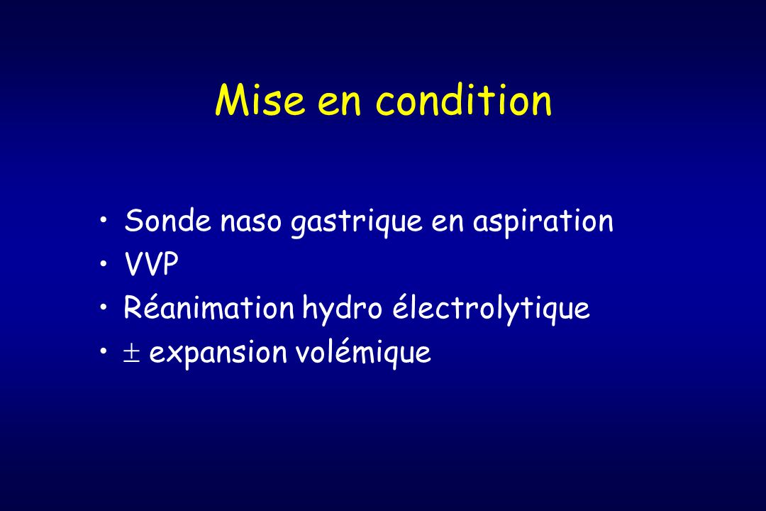 Mise en condition Sonde naso gastrique en aspiration VVP