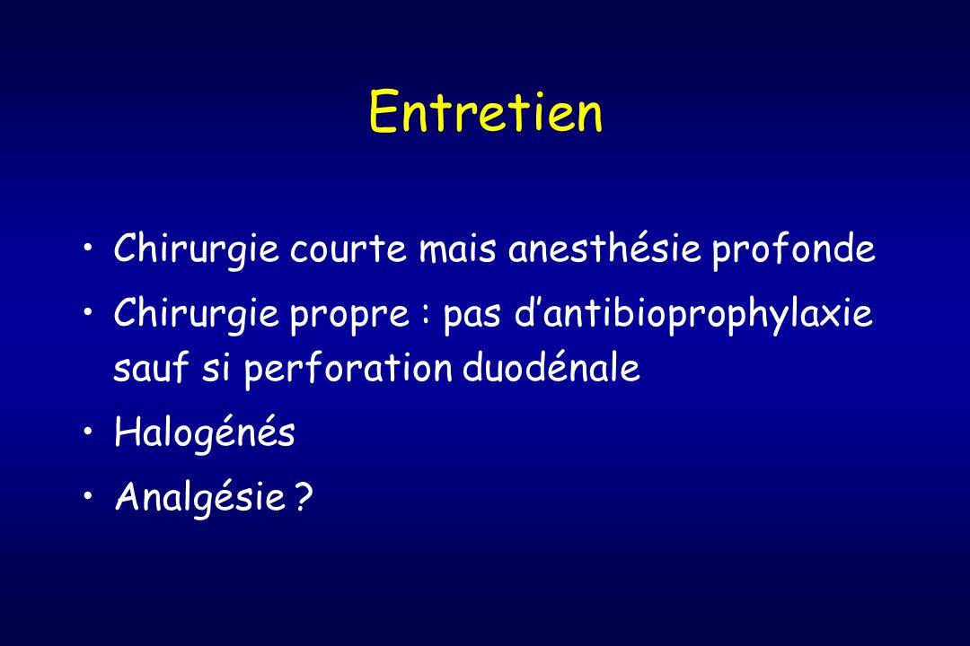 Entretien Chirurgie courte mais anesthésie profonde