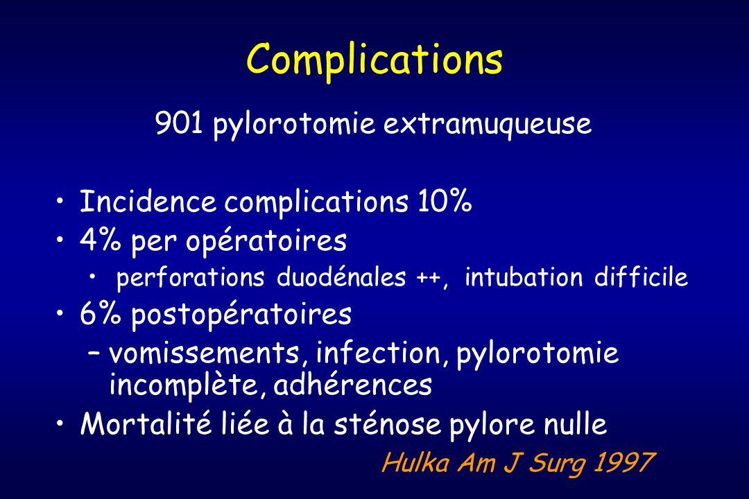 901 pylorotomie extramuqueuse