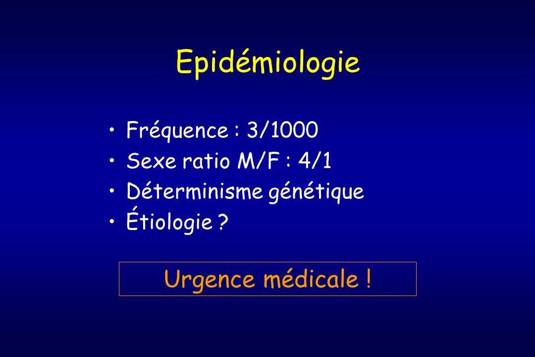 Epidémiologie Urgence médicale ! Fréquence : 3/1000