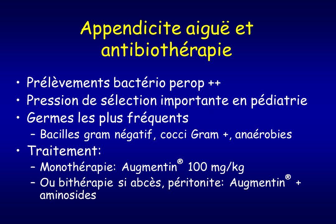 Appendicite aiguë et antibiothérapie