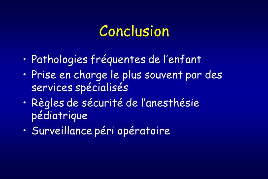 Conclusion Pathologies fréquentes de l'enfant