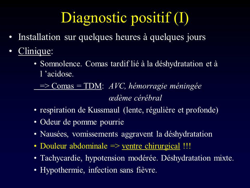 Diagnostic positif (I)