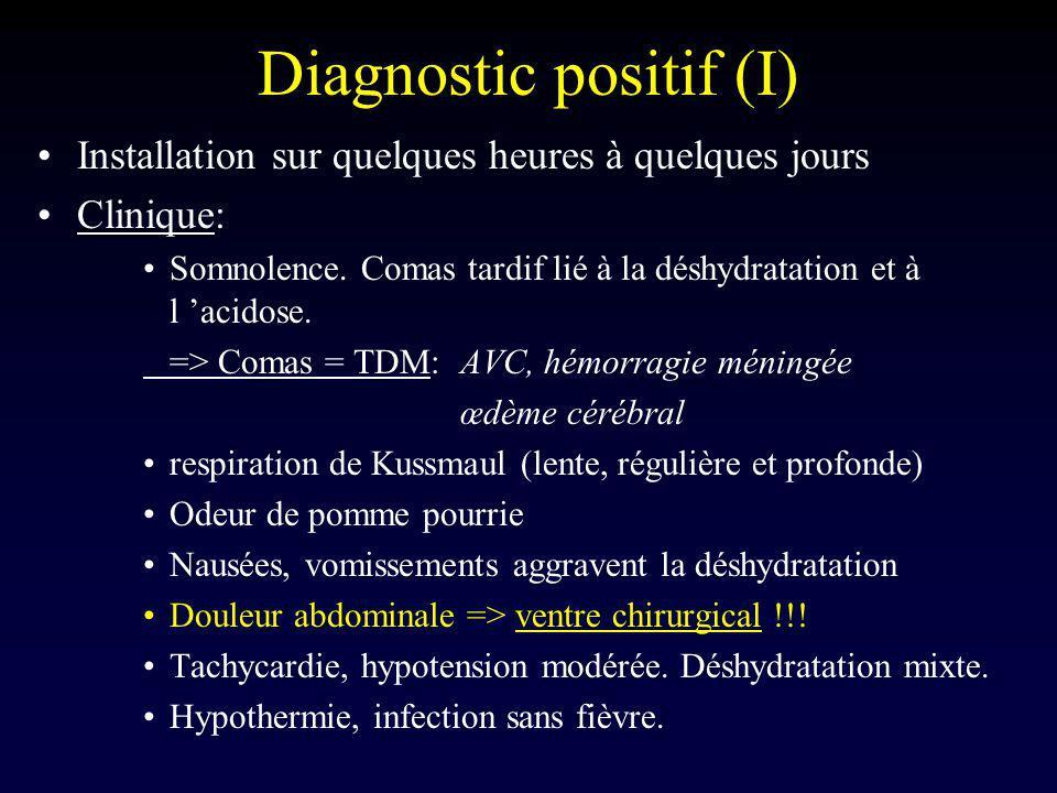 Diagnostic positif (I)