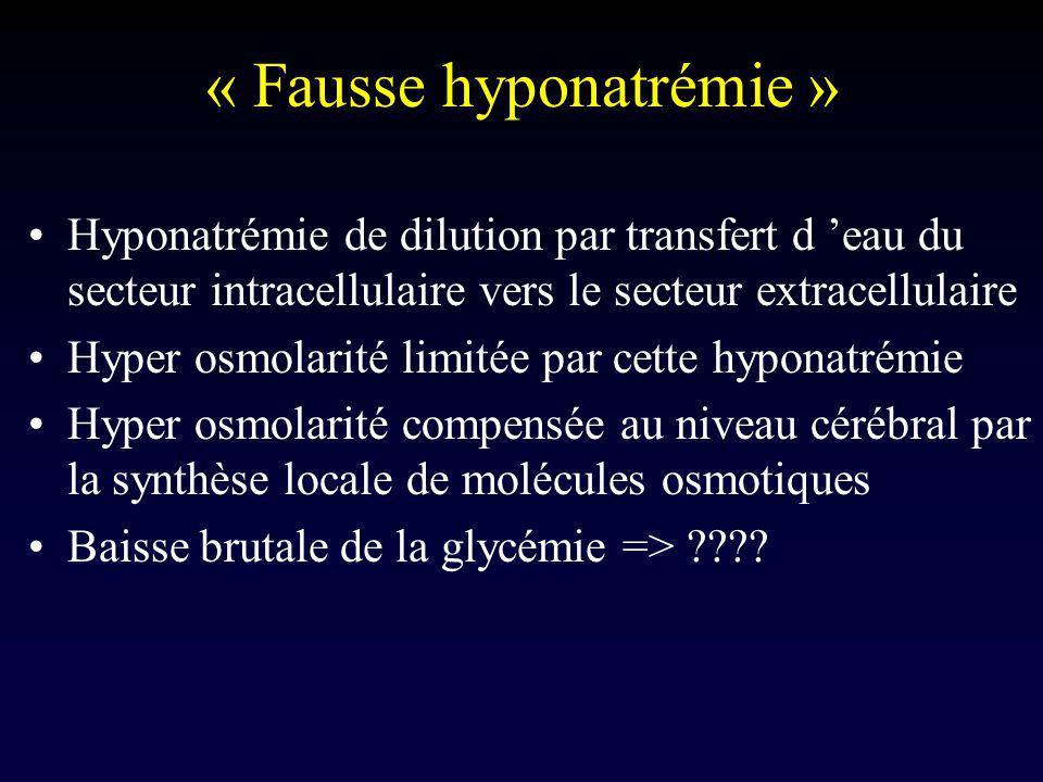 « Fausse hyponatrémie »