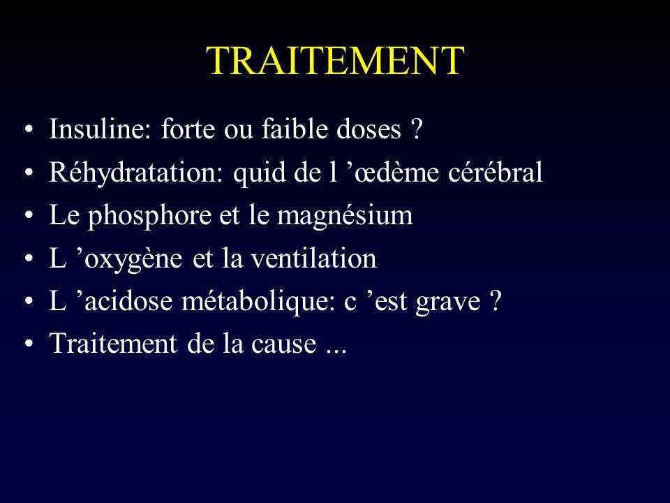 TRAITEMENT Insuline: forte ou faible doses