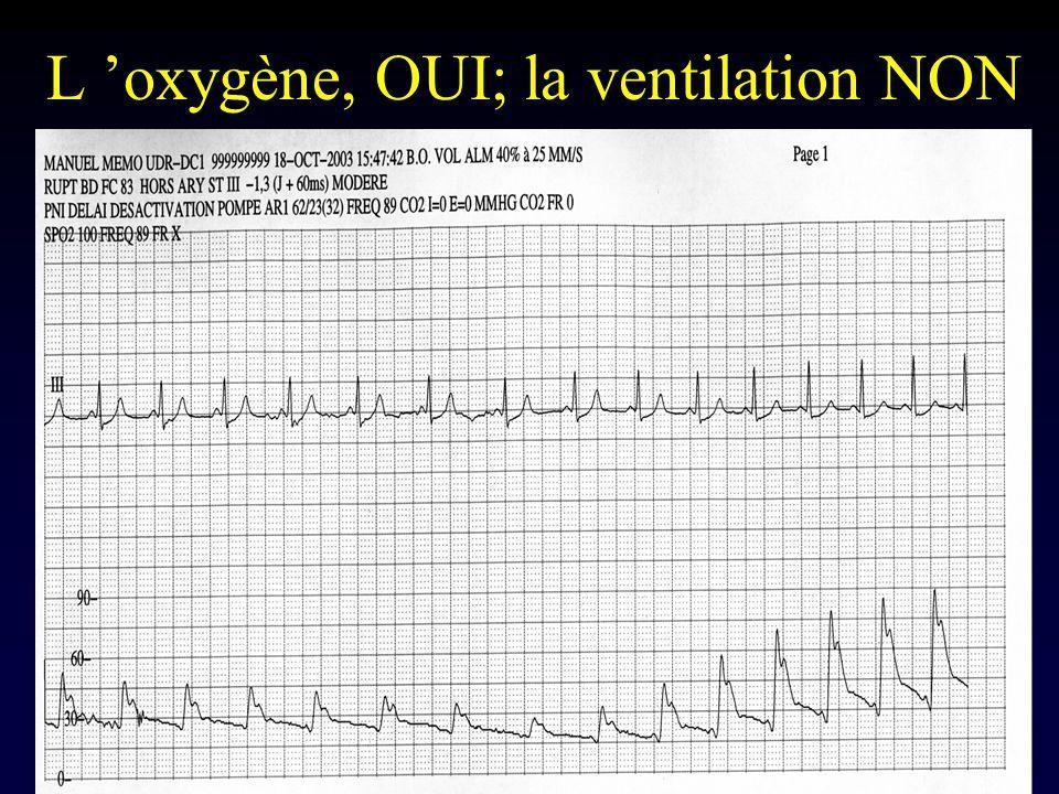 L 'oxygène, OUI; la ventilation NON