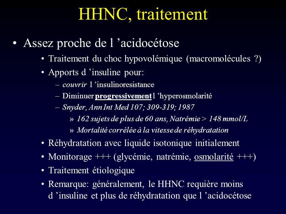 HHNC, traitement Assez proche de l 'acidocétose