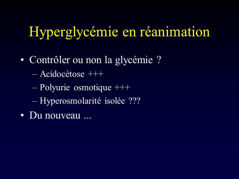 Hyperglycémie en réanimation