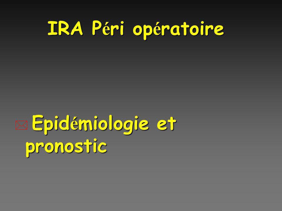 IRA Péri opératoire Epidémiologie et pronostic